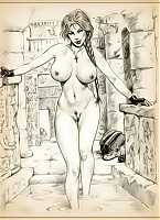 Lara Croft naked and fucking like a slut