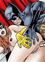 Batgirl enjoys ass to mouth action with Batman