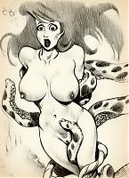 Horny octopus fucks Ariel Mermaid with its tentacles