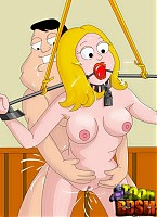Kinky BDSM switches from American Dad toon