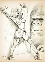 King Kong is horny for toon babes!