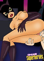 Sweet catwoman with incredible body getting forced to suck