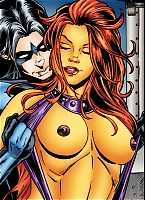 Starfire gets hardcore sex from Nightwing