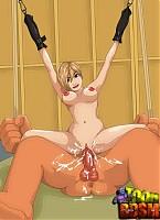 Evil giant puts hot babe through unthinkable BDSM tortures
