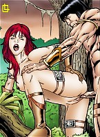 Red Sonja gets her pussy pumped by Conan.s rod