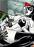 Harley endures the onslaught of Joker.s endless erection