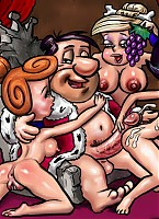 The wildest scenes of group sex with Flintstones
